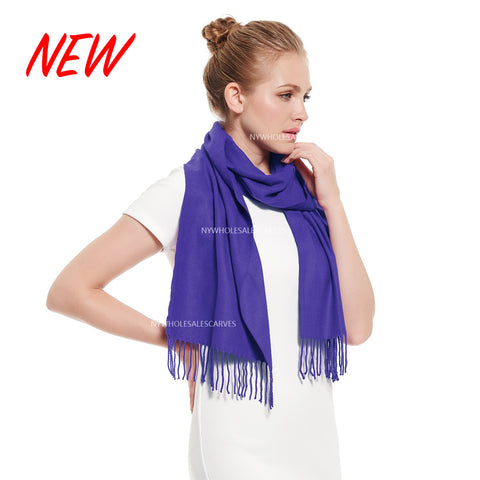 Cashmere Feel Scarf FW19-28 Blue Violet