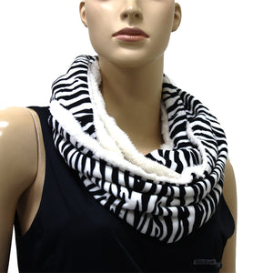 Animal Printed Faux Fur Infinity Scarf #S50022 Assorted