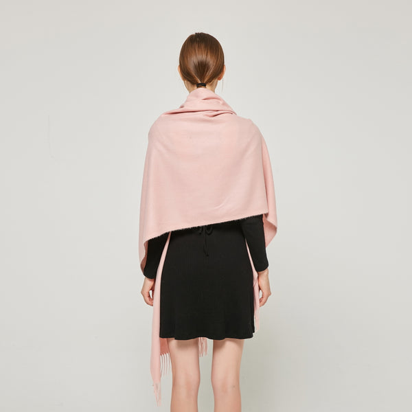 Cashmere Touch Solid Shawl FW2314511 Blush Pink