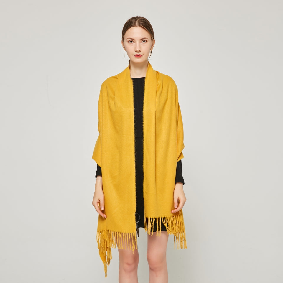 Cashmere Touch Solid Shawl FW2314513 Golden Yellow