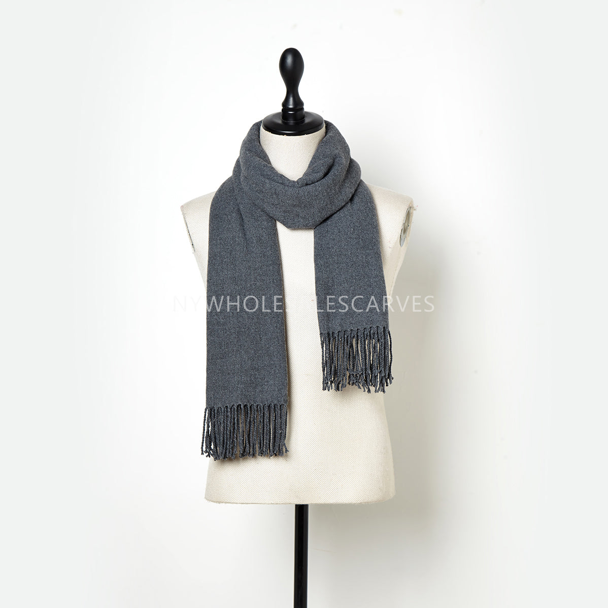 Cashmere Touch Solid Shawl FW2314510 Slate Grey