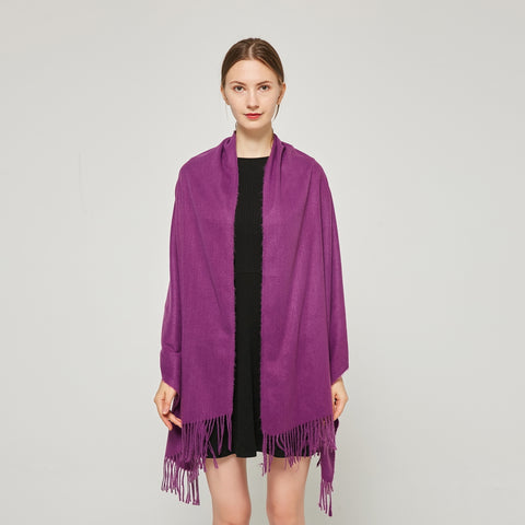 Cashmere Touch Solid Shawl FW2314501 Purple