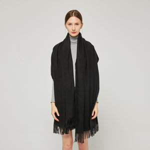 Cashmere Touch Solid Shawl FW231452  Black