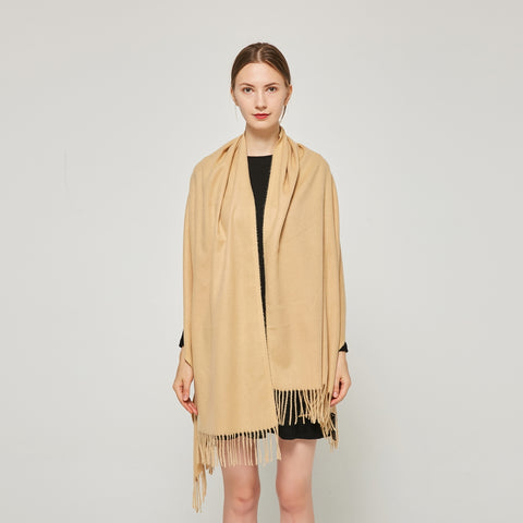 Cashmere Touch Solid Shawl FW231454   Light Camel