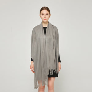 Cashmere Touch Solid Shawl FW231455  Grey