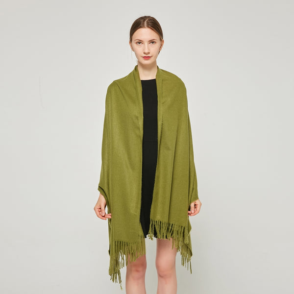 Cashmere Touch Solid Shawl FW231456 Olive