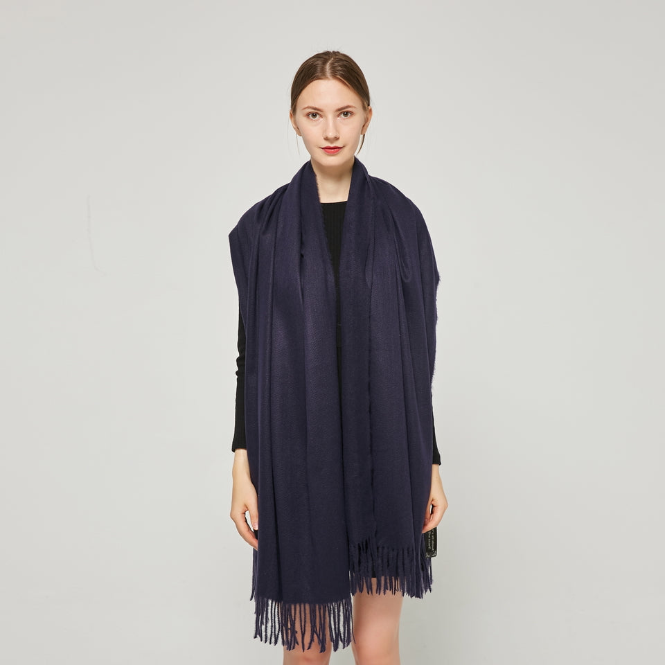 Cashmere Touch Solid  Shawl FW231458 Navy