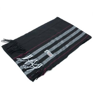 Cashmere Feel Scarf Stripe FW318 Red/Black/Grey
