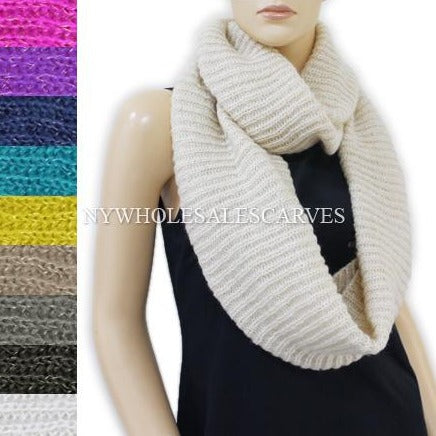 Sequined Knit Infinity Scarf 680 Assorted Colors