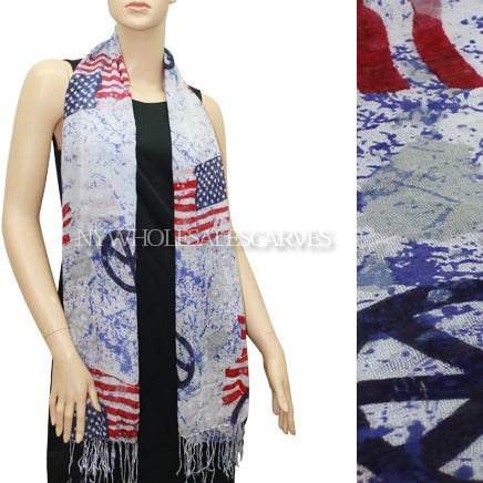 USA US American Flag Peace Scarf FW1202