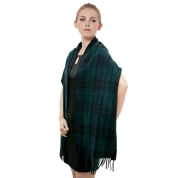 Cashmere Feel Scarf FW8806 Navy/Green/Black