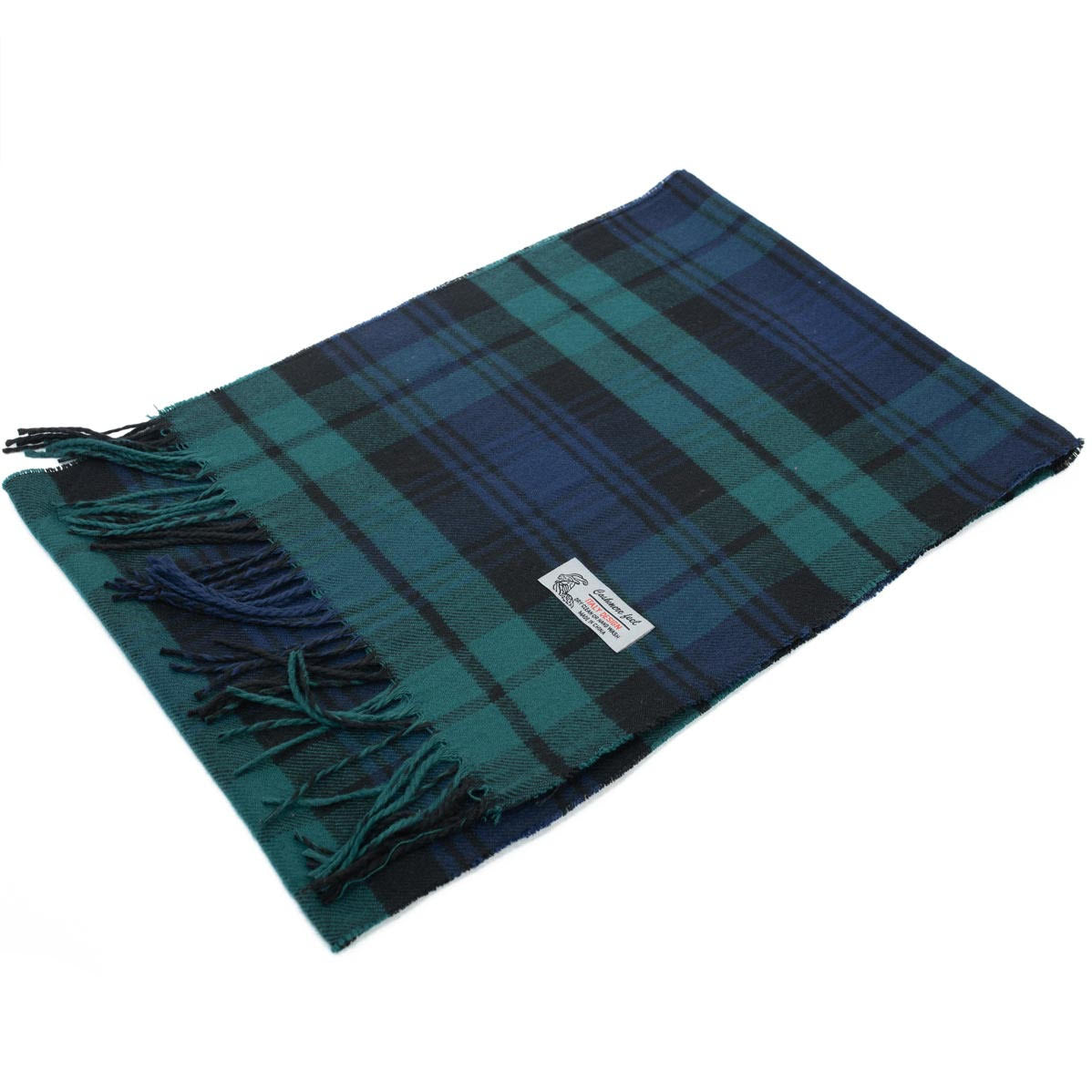 Cashmere Feel Scarf FW98 Navy/Teal