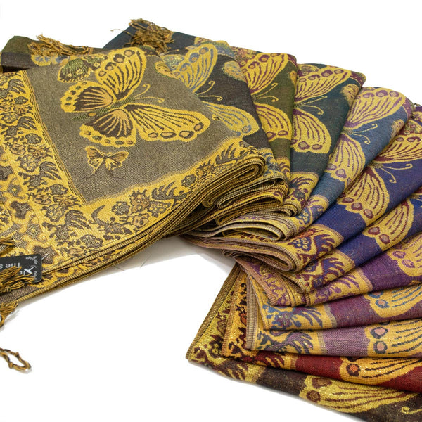Butterfly Metallic Pashmina FW403S Assorted Colors
