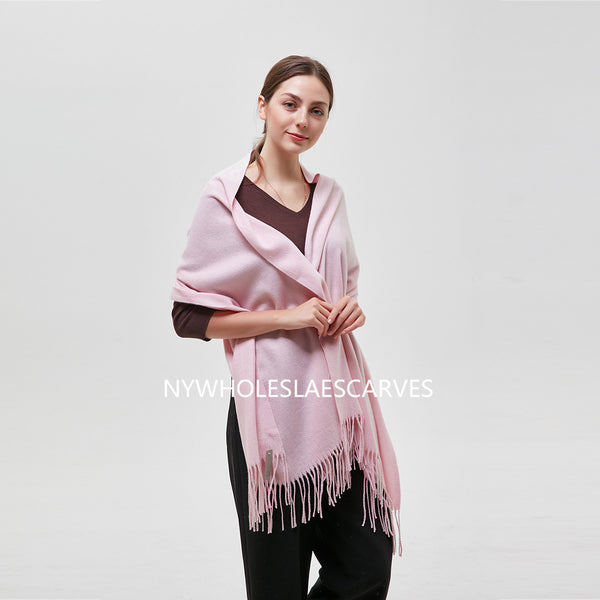 Solid Color Shawl  FW22122-2 Baby Pink
