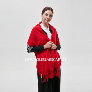 Solid Color Shawl FW22122-5 Red