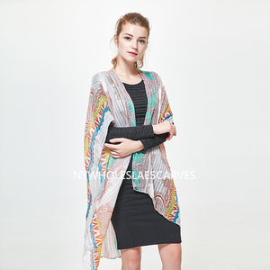 2112508 Multi Colors and Prints Light Cozy Ruana