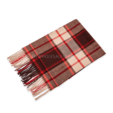Cashmere Feel Scarf FW2214 Camel/Red