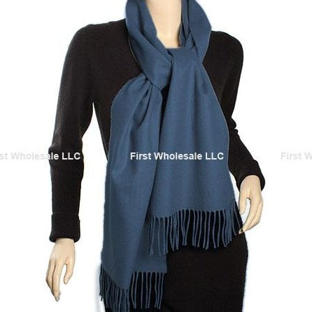 Cashmere Feel Scarf FW226 D-SteelBlue