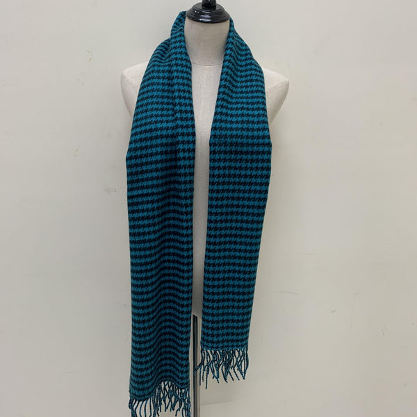 Houndstooth Scarf FW4410 Teal / Black