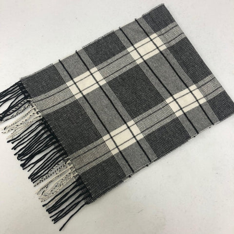 Cashmere Feel Scarf FW34035: Grey/Black/Cream