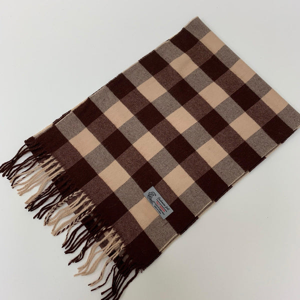Cashmere Feel Scarf FW12-09  Beige/Coffee