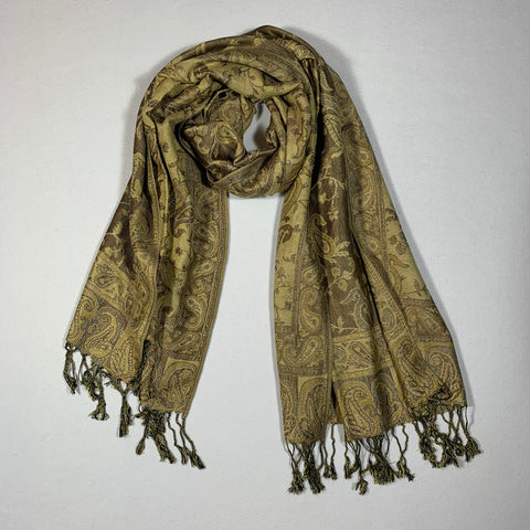 Gorgeous Paisley Pashmina FW2304 Brown