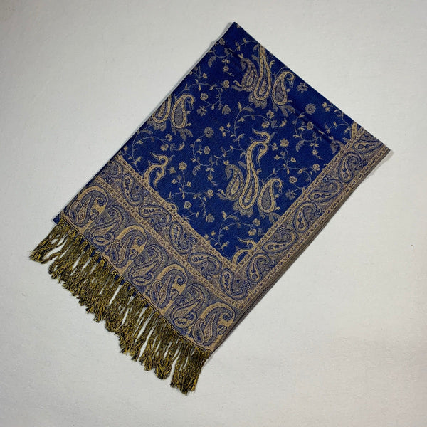 Gorgeous Paisley Pashmina FW2308 Royal Blue