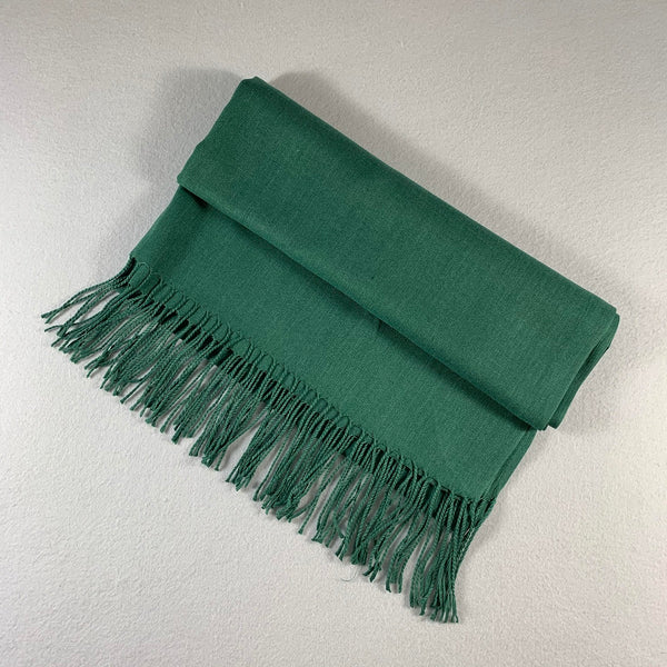 9602 Premium Silky Soft Bamboo Fiber Shawl  Hunter Green