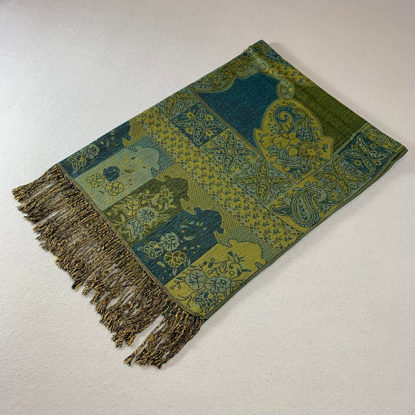 IPB07 Indian Paisley Pashmina Green