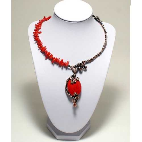 Handmade Wire Wrapped Red Necklace