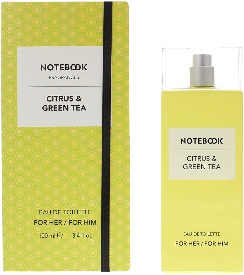 NOTEBOOK CITRUS & GREEN TEA by Selectiva (UNISEX) EDT SPRAY 3.4 OZ *TESTER