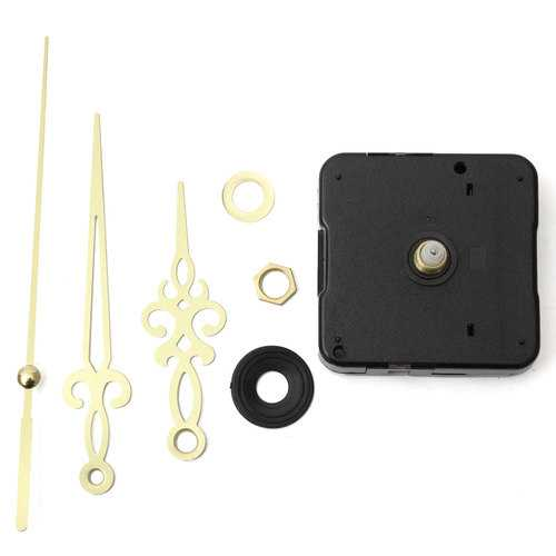 Gold Hands DIY Quartz Wall Clock Spindle Movement Mechanism