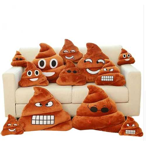 Emoji Pillow Poo Cushion Kawaii