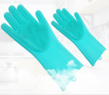 Load image into Gallery viewer, Silicone Cleaning Scrubber Gloves