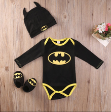 Load image into Gallery viewer, Batman Short & Long Sleeve Cotton Romper Set