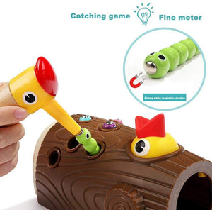 Woodpecker Catching Bugs Magnet Fishing Toy
