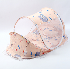 Foldable Baby Bed With Net & Pillow