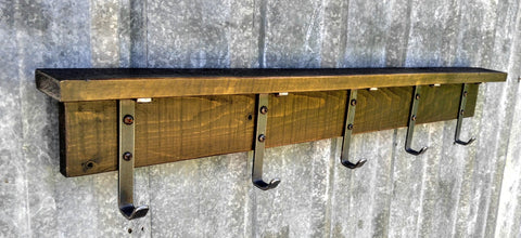 Rustic Industrial Coat Rack