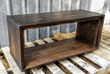 Modern Industrial Ebony Maple Bench Set