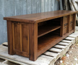 Walnut Double Stack Entry Bench