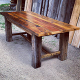 Reclaimed trestle table
