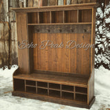 XX**RESERVED**CUSTOM Rustic Farmhouse Hall Tree Locker FOR ALDO IN NJ - 50% DEPOSIT**XX