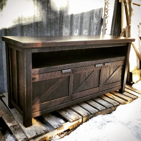 Industrial Rustic Media Stand