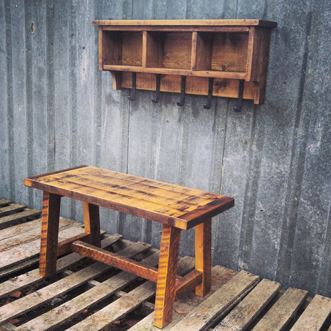 Farmhouse Trestle Bench Set