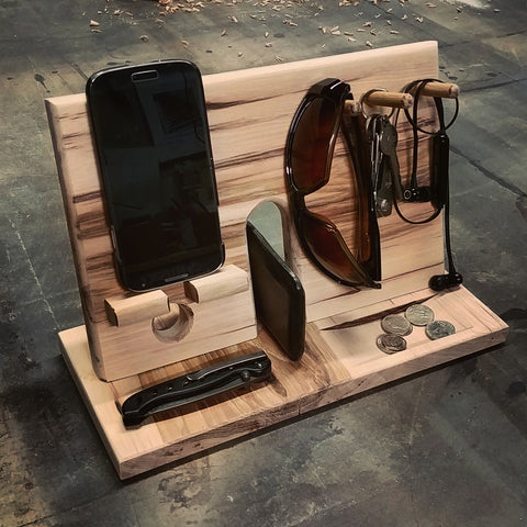 Hardwood Phone Rack Organizer