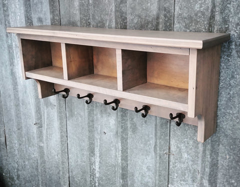 Hardwood Shelf Cubby Ghostwood Grey