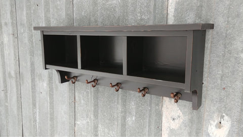 Black Lacquered Shelf Cubby
