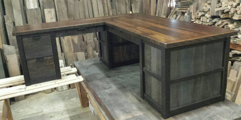 XX**RESERVED Custom L Shaped Desk and Accent Table for Levi**XX