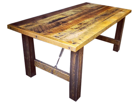Rustic Industrial Reclaimed Dining Table