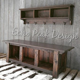 xx×Custom Rustic Barnwood Bench and Shelf Cubby Set for Nathanxx